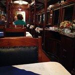 Inside museum cafe dining car