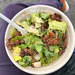 Filled the gap. Chunky chilli beef salad with extra 'kick'. Tres Yum