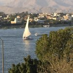 Felucca on the Nile from the balcony of the room