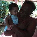 """Nimal and """"Danku Toppi"""" Minouchi, his granddaughter."""