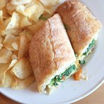 Fabyan's Grilled Cheese: Brie Cheese, Arugula, Golden Raisin-Onion Marmalade, Baguette