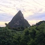 View from where our table of the Pitons.