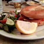 The Toasted Smoked Salmon & Cream Cheese Bagel at No.6 Tearoom