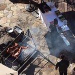 Sunday buffet roasting lamb