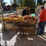 Bagel vendor at Zion Gate
