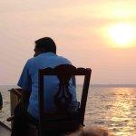 Sunset cruise on the lake