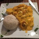 Pescado a lo macho - the fish with a cream sauce. Lovely and the most expensive at $16.95