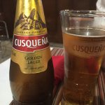 the Peruvian beer, Cusquena.