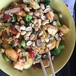 Eating tofu with chopsticks in Montana...........