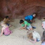 Digging for gemstones in Prospector Pit