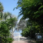 Pathway to private beach area