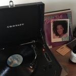 In-room record players with Patti and some red. What more do you need?