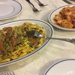 Delicious 2 types of regional pasta! The one with artichoke is so good!!