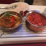 Paneer Butter Masala Curry and Lamb vindaloo Curry