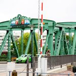 Видно с веранды ресторана старый зеленый мост 1904г
