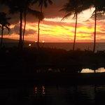 Sunset starts about 5:45 - 6 pm