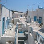 The main street of Thirasia