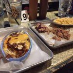 Yummy hash grits and meat!!!