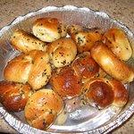 Mini pães de alho