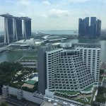 View of Marina Bay Sands towers