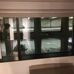 View of the parking garage out of the windows of Room 812 at W Hotel, Seattle. Avoid this room a