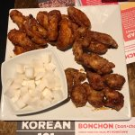 Spicy wings and soy garlic wings