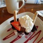 Chocolate Moose in an edible chocolate bowl.