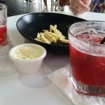 Berry Margurita and fries