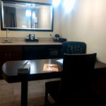Desk,kitchen area