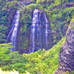 Opaeka'a Falls, as seen from the pullout on Highway 580.