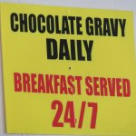Our server explained chocolate gravy ... really !
