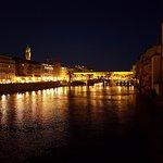 Arno River with Ponte Vecchio at night