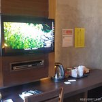 TV and complimentary coffee