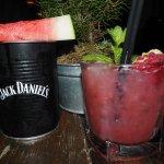 Jack Daniels Watermelon Cocktail + Non-Alcoholic Wham Bam Thank You Jam Mocktail