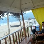 view from beach hut..