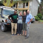 Us with our safari guide getting dropped off at the Tumaini Cottage