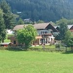 A view across the meadow to Haus Susanne.