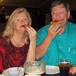 Judy & Steve love Little Joey's pizza