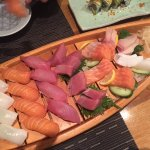 Sushi and Sashimi boat - great portions