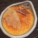 This creme brulee with ginger is to die for!