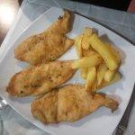 Pollo marinado y pollo al horno. Segundos platos del menú