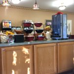 Part of the self service breakfast area