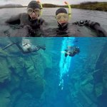 Snorkeling in Silfra: above and below the surface!