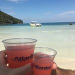 Complimentary rum punch at Paradise Cove