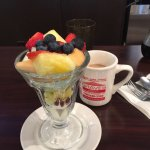 Coffee cake and fruit were great - good strong coffee!
