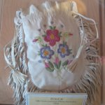 Beautiful Deer Skin beaded pouch