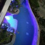 Looking down at Swim-out Suites pool area