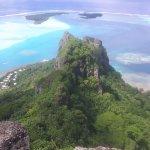 Vu du sommet de Maupiti