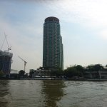 The hotel from the river