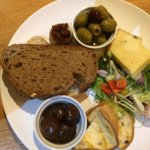 Vegetarian platter - perfect for a starter for two or main for one.